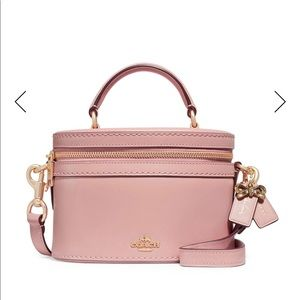 New COACH x Selena Gomez Pink Trail Bag